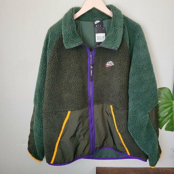 Nike Sportswear NSW Sherpa Fleece Jacket Mens XXL
